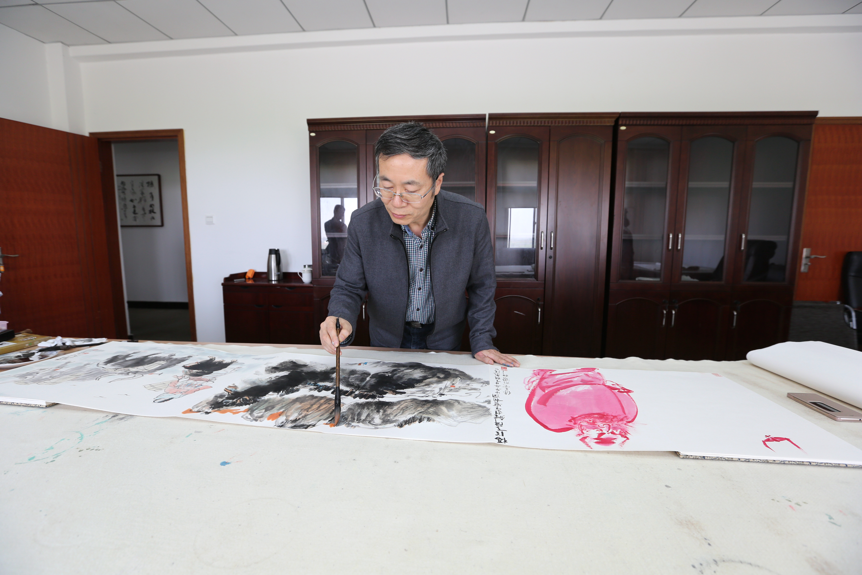 贺万里教授做客张雄艺术网江苏站